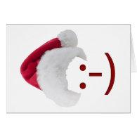 Smiley Santa Emoticon Greeting Card