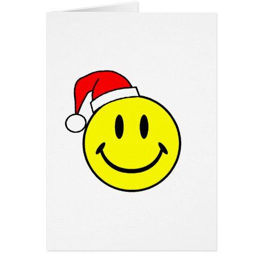 Smiley (Santa Hat) Greeting Card
