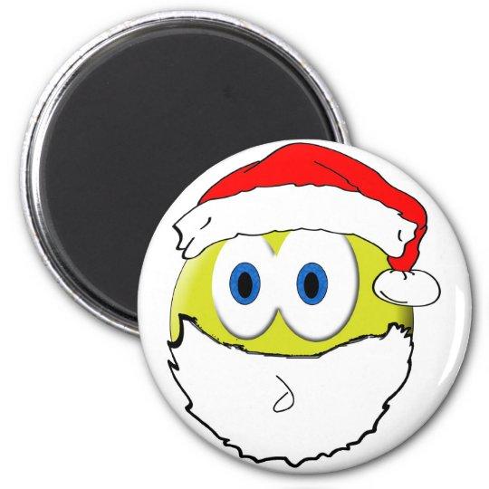 Smiley Santa Magnet