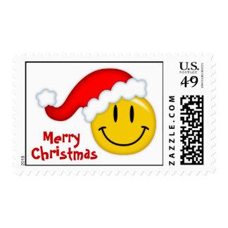 Smiley Santa Postage