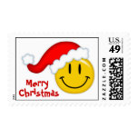 Smiley Santa Postage Stamps