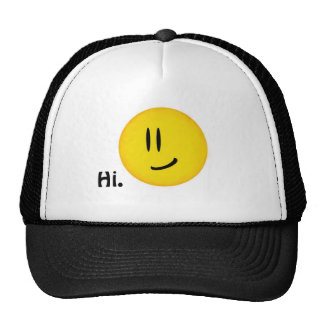 """Smiley says Hi."" Hat"