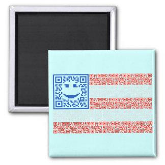 Smiley Scan Flag QR Code Design Magnet