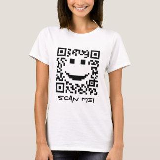 Smiley Scan UPC QR Design T-Shirt