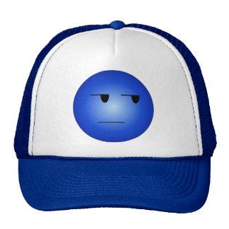 Smiley sí correcto del azul gorras de camionero