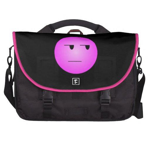 Smiley sí correcto del rosa bolsas para portátil