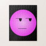 Smiley sí correcto del rosa puzzles