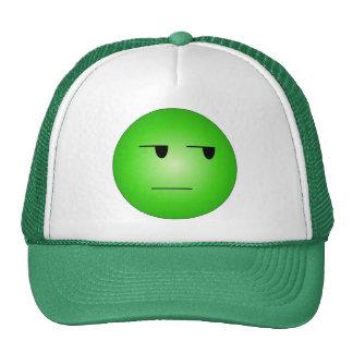 Smiley sí correcto del verde gorros