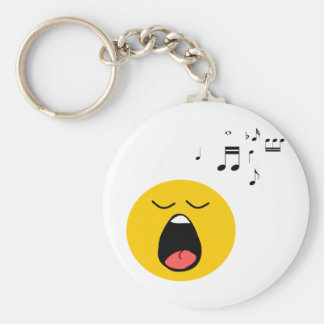 Smiley singer keychain