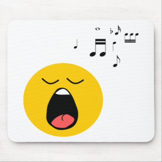 Smiley singer mouse pad