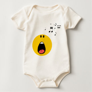 Smiley singing his little heart out baby bodysuit