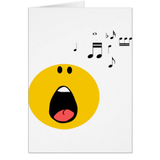 Smiley singing his little heart out card