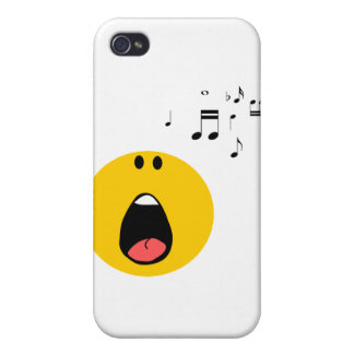 Smiley singing his little heart out iPhone 4 cover