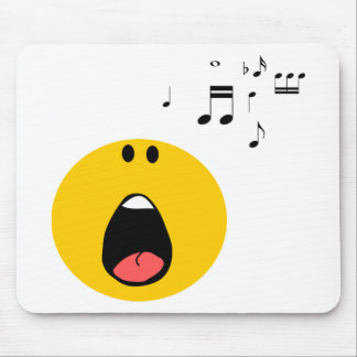 Smiley singing his little heart out mouse pad