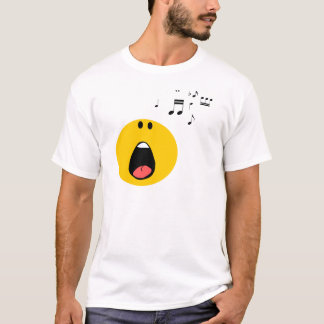 Smiley singing his little heart out T-Shirt