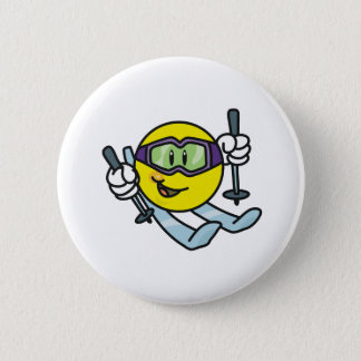 Smiley Skiing Button
