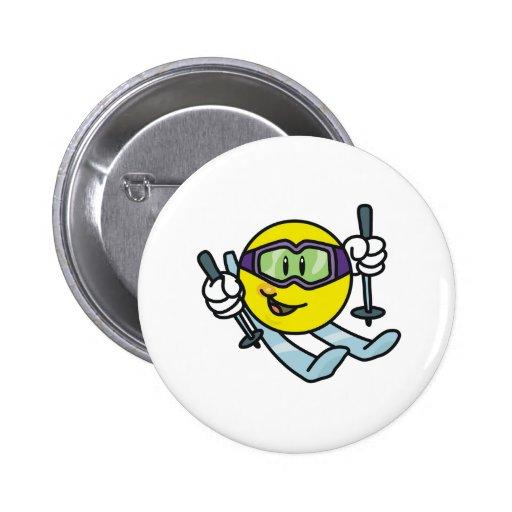 Smiley Skiing Button