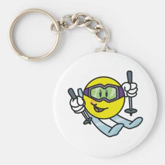 Smiley Skiing Keychain