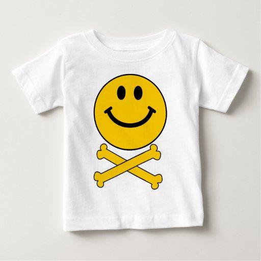 Smiley skull and crossbones tshirt