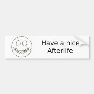 Smiley Skull Car Bumper Sticker
