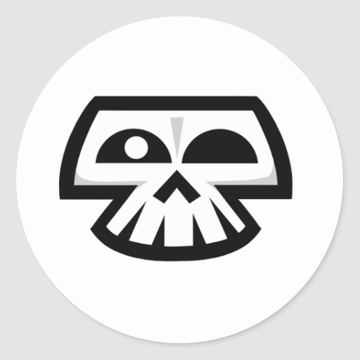 Smiley Skull Classic Round Sticker