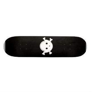 Smiley Skull Gunshot Wound 2 Skate Board