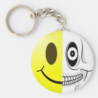 Smiley Skull Keychain