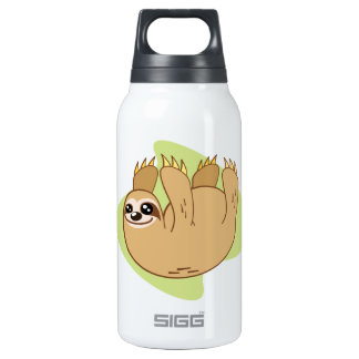 Smiley Sloth Insulated Water Bottle