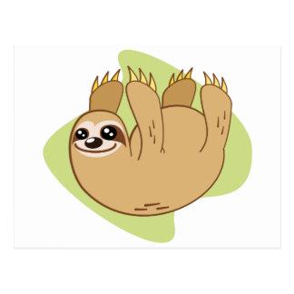 Smiley Sloth Postcard