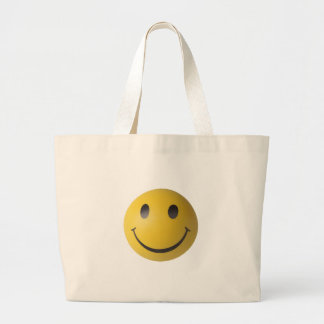 Smiley Smart Expression Smilie Large Tote Bag
