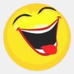 smiley-smilies-feliz pegatina redonda