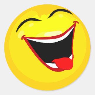 smiley-smilies-happy classic round sticker