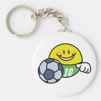 Smiley Soccer Keychain