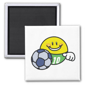 Smiley Soccer T shirts and Gifts 2 Inch Square Magnet