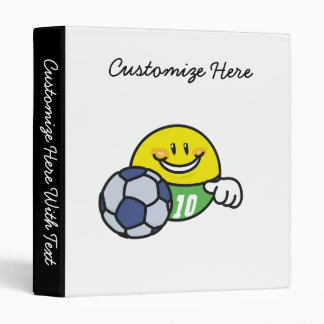 Smiley Soccer T shirts and Gifts 3 Ring Binder