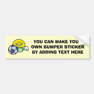 Smiley Soccer T shirts and Gifts Bumper Sticker