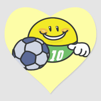 Smiley Soccer T shirts and Gifts Heart Sticker