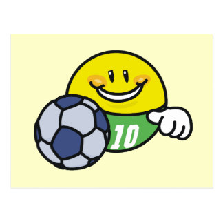 Smiley Soccer T shirts and Gifts Postcard