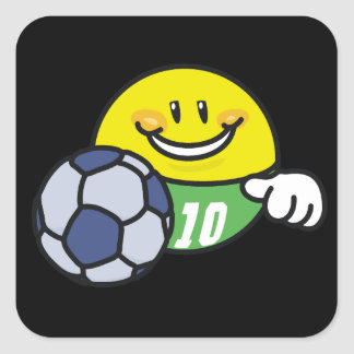 Smiley Soccer T shirts and Gifts Square Sticker