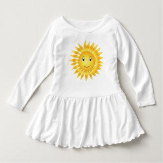 Smiley soleado lindo amarillo sonriente feliz de vestido