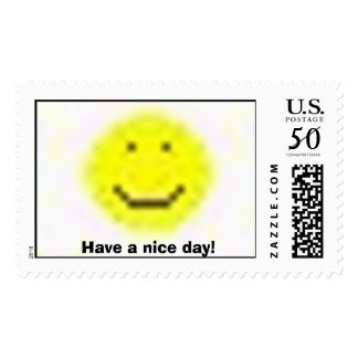 smiley stamp, Have a nice day! Postage