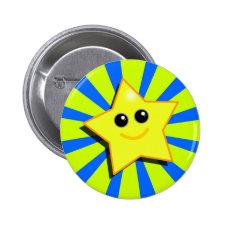 SMILEY STAR Button