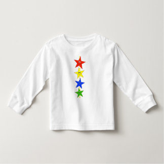 Smiley Star Characters In A Row Shirts