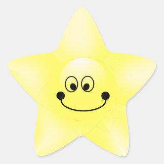 Smiley Star Stickers