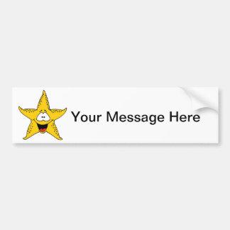 Smiley Starfish the Sea Star Car Bumper Sticker