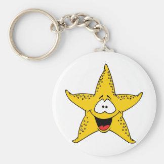 Smiley Starfish the Sea Star Keychain