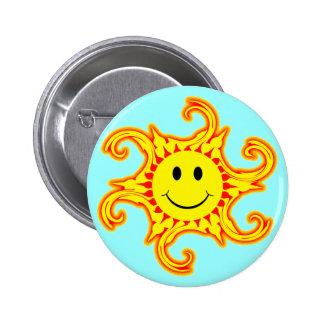 Smiley Sun Button