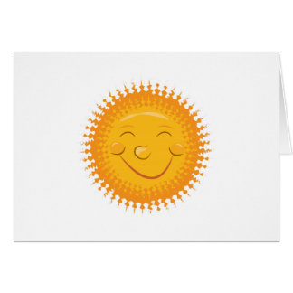 Smiley Sun Greeting Card