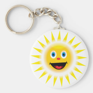 Smiley Sun Keychain