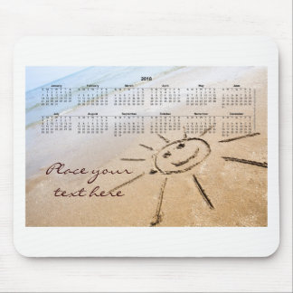 Smiley Sun On The Beach 2018 Mouse Pad